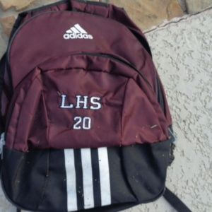 Adidas Backpack / Adidas laptop bag/ maroon black